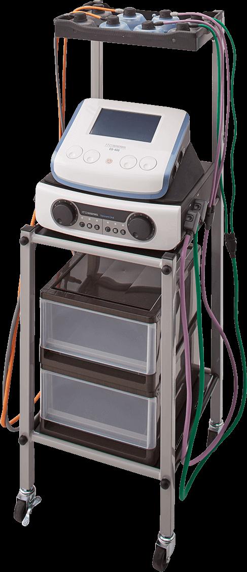 消音タイプの4CH対応吸引装置